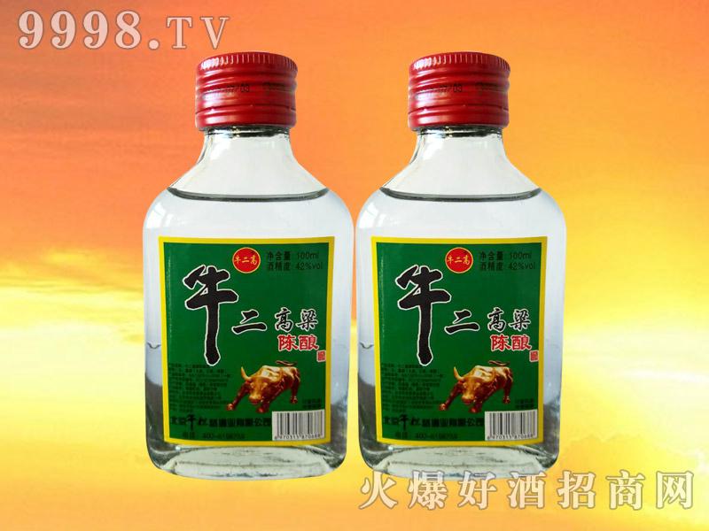 牛二高粱陈酿酒42°100ml
