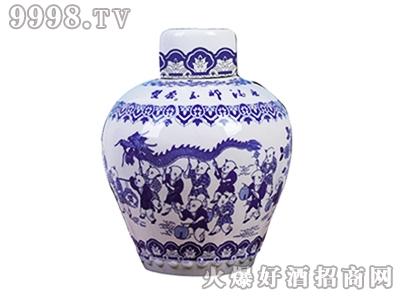 玉祁百子青花瓷十五年陈酿黄酒