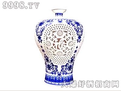 玉祁天福青花瓷十二年陈酿原浆半干型黄酒