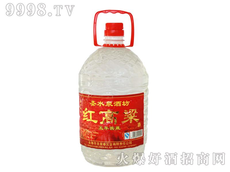 圣水泉红高粱窖藏酒60度5Lx4