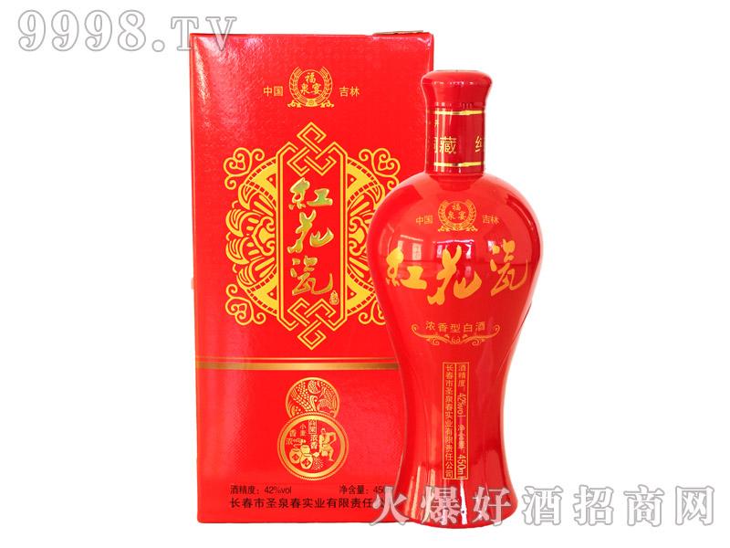 福泉宴红花瓷酒42度450mlx6