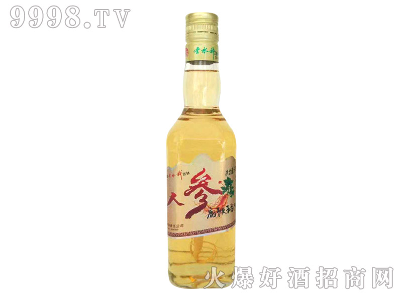 圣水泉人参鹿鞭玛咖酒38度450mlx12