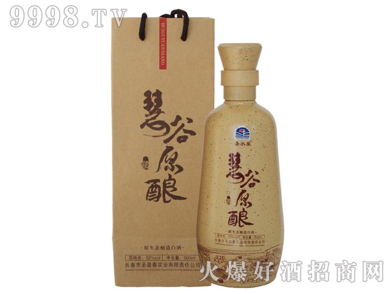 圣水泉慧谷原酿酒(牛皮袋)52度500mlx6