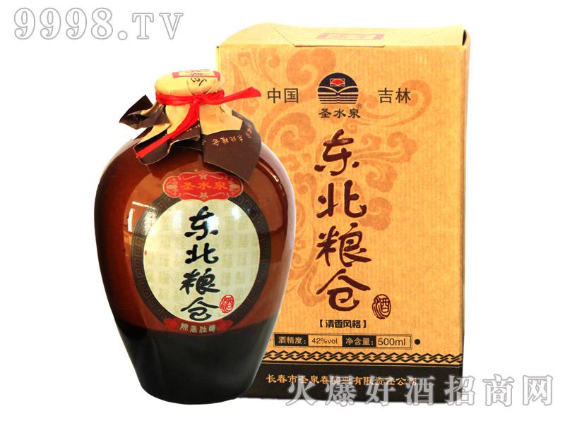 圣水泉东北粮仓酒45度450mlx6