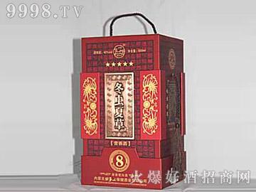 牧马人虫草养生礼品酒(红盒)