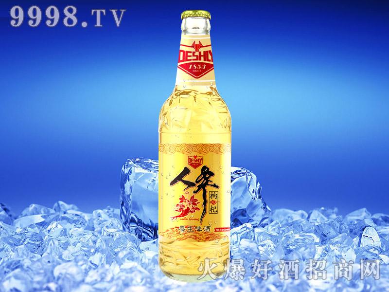 德仕利人参枸杞养生啤酒500ML