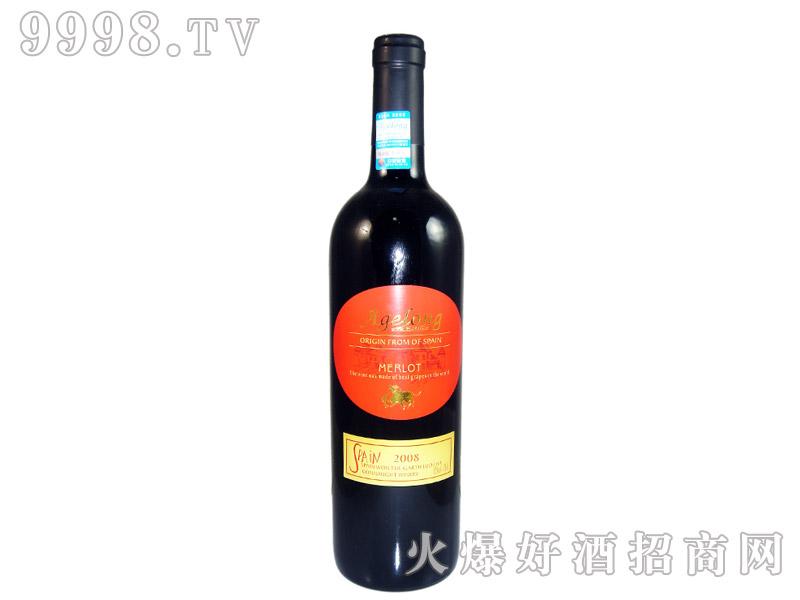 西班牙安吉路美乐干红葡萄酒2008