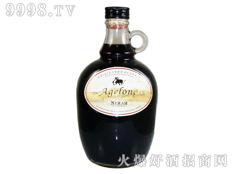 西班牙安吉路西拉干红葡萄酒1.5升