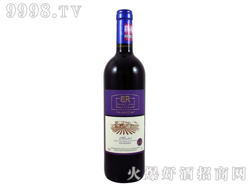 法国布莱德洛斯AOC梅洛干红葡萄酒2007