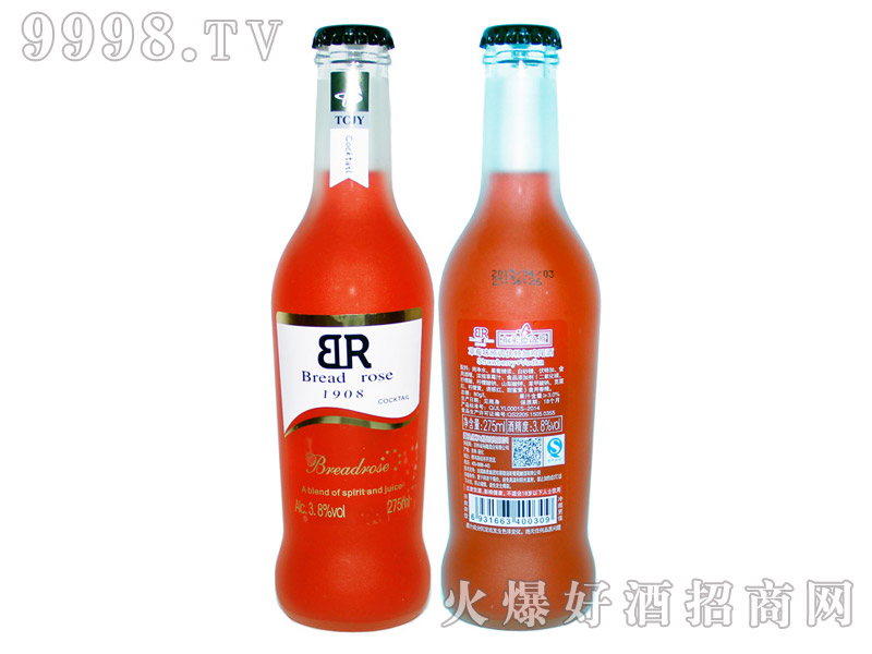布莱德洛斯预调伏特加鸡尾酒・草莓味-好酒招商信息