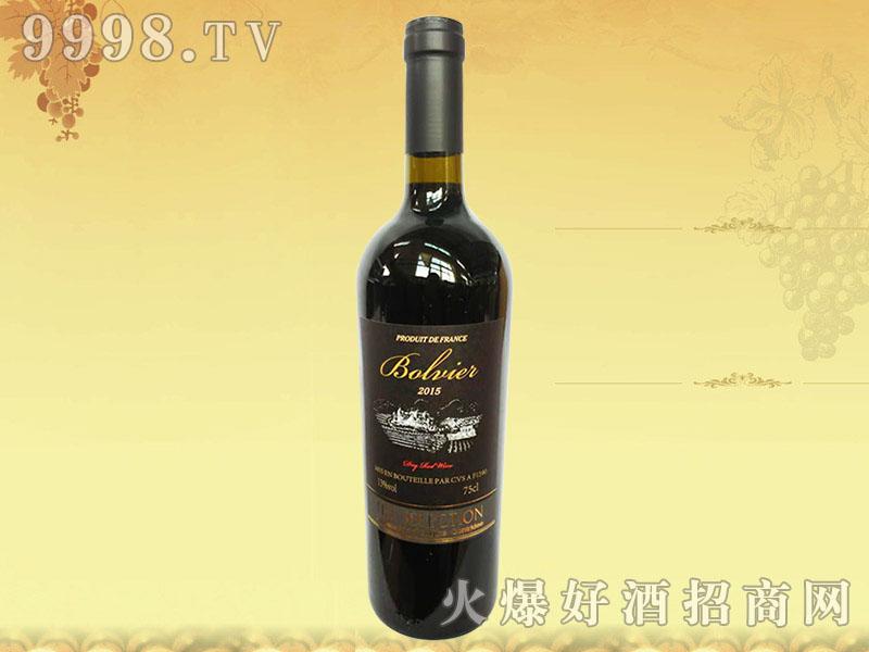 法国波尔维尔干红葡萄酒2015
