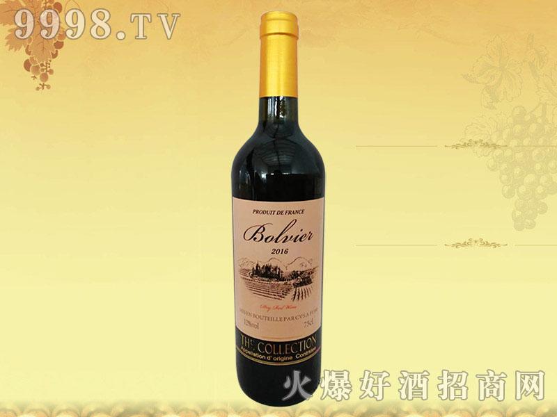 法国波尔维尔干红葡萄酒2016