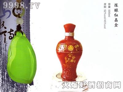 金谷春酒陈酿红晶盒