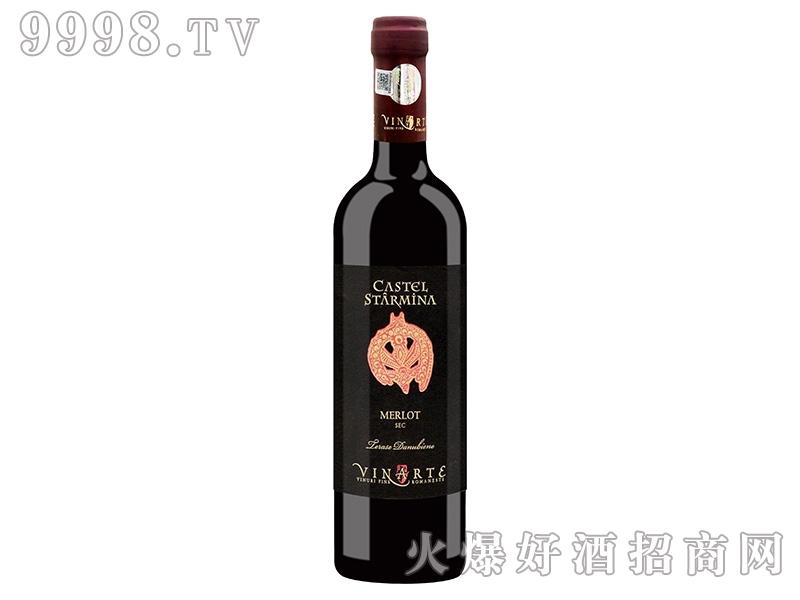 罗马尼亚卡斯特罗斯塔明娜梅洛红葡萄酒