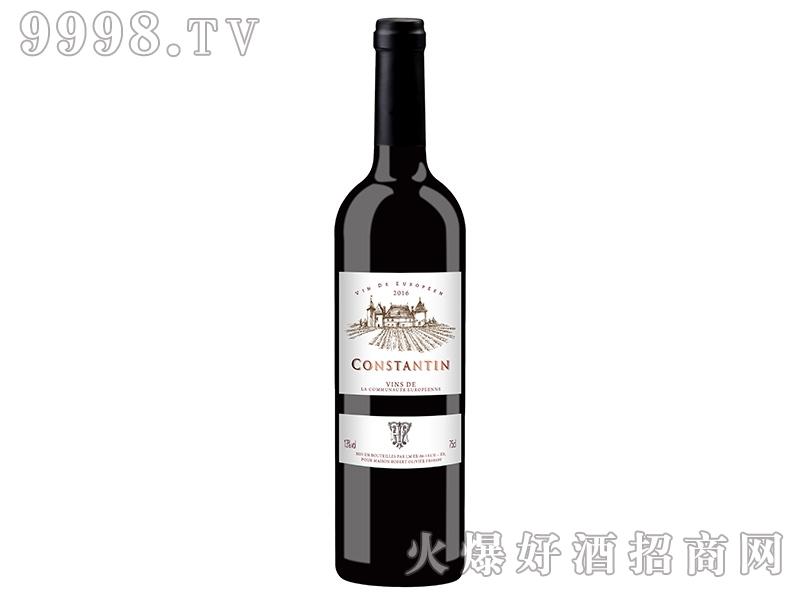 法国康斯坦丁干红葡萄酒13度