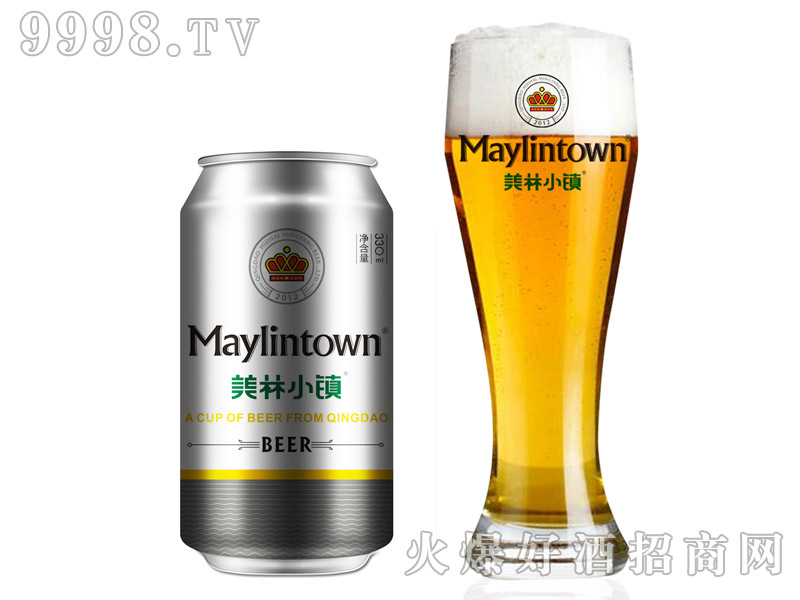 330ML美林小镇啤酒银罐装