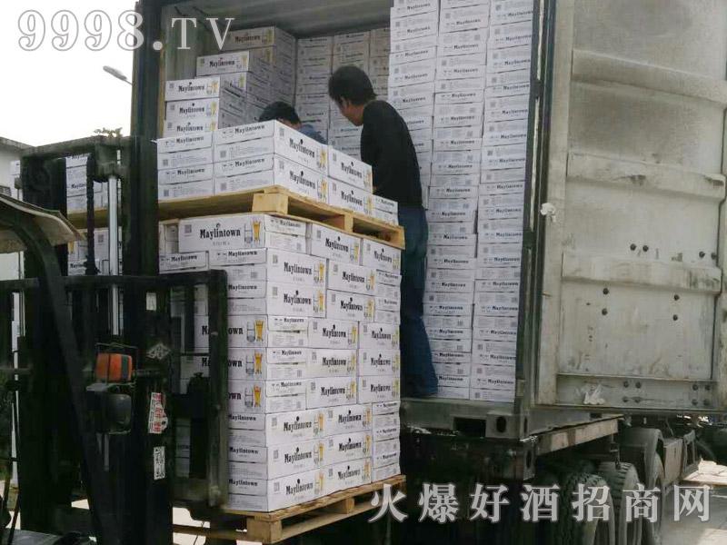 美林小镇啤酒集装箱发货-(12)