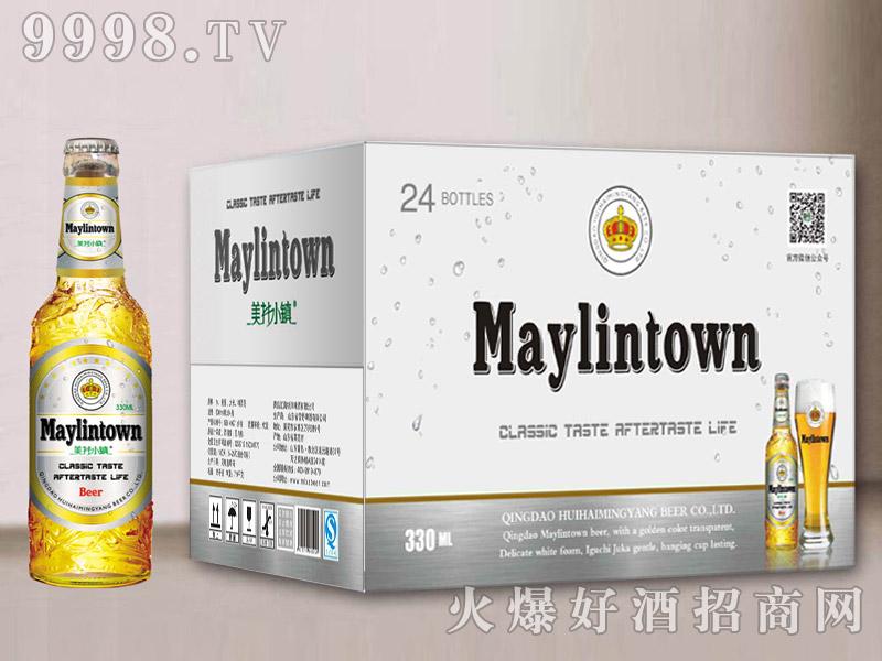 美林小镇啤酒330白瓶