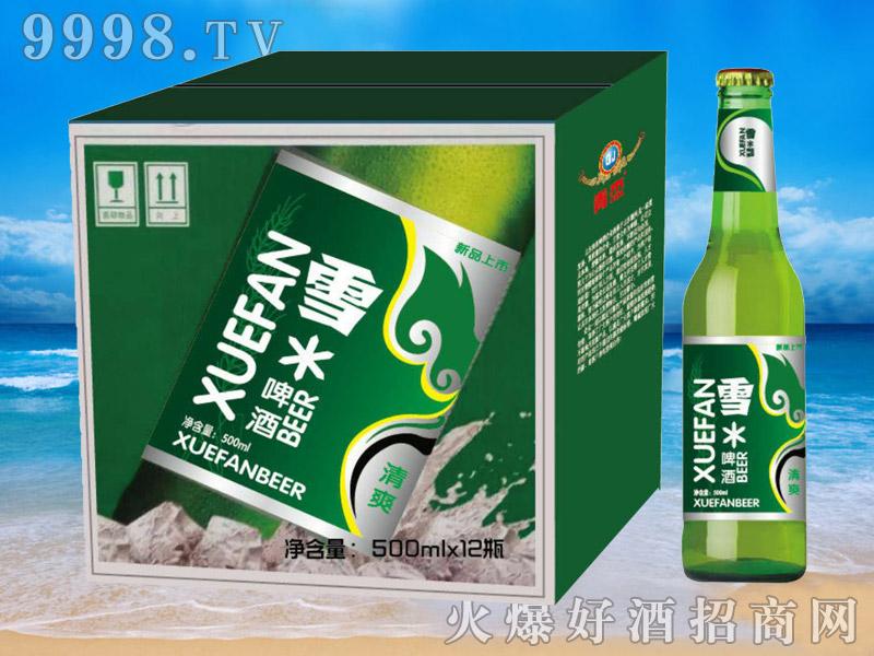 青杰啤酒雪啤500mlx12瓶