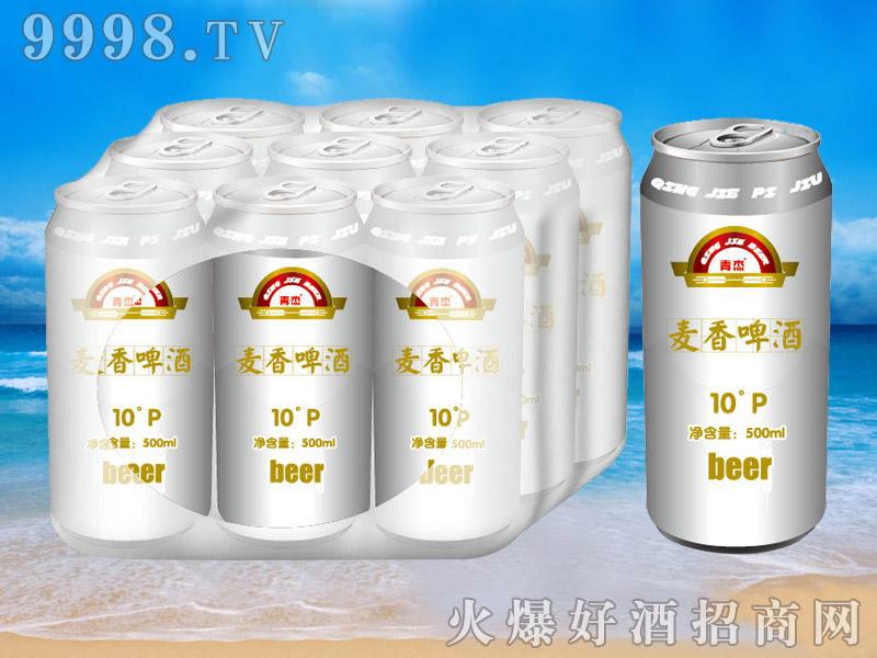 青杰啤酒罐装麦香啤酒10°p500ml
