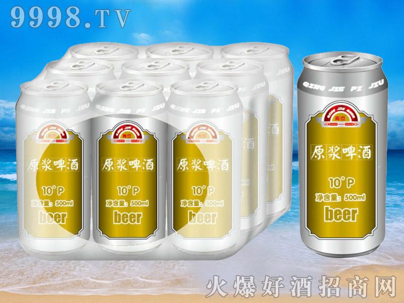 青杰啤酒罐装原浆啤酒10°p500ml