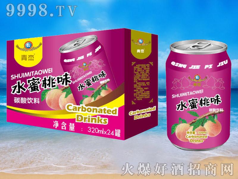 青杰啤酒罐装水蜜桃味果啤320ml×24