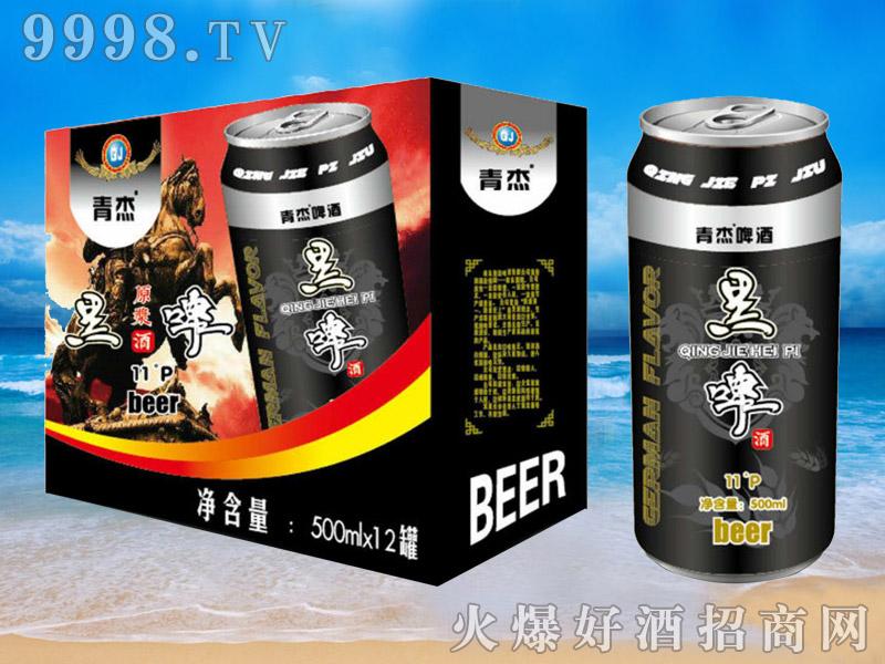青杰啤酒罐装黑啤500ml×12