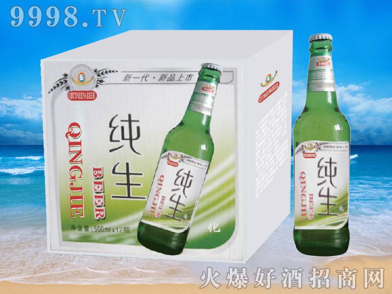 青杰啤酒纯生啤酒500mlx12