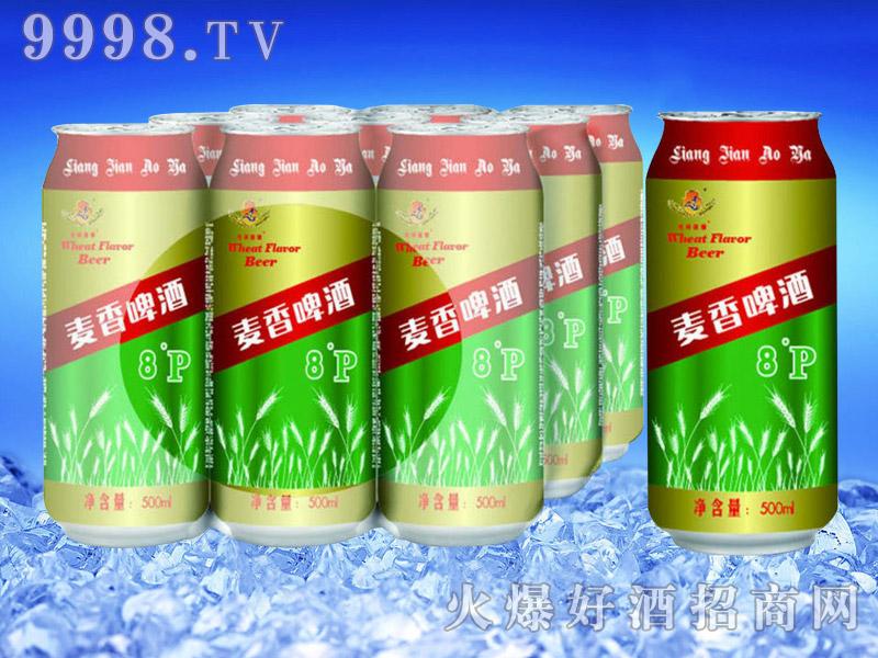 罐装麦香啤酒8°P500ml塑包-亮剑啤酒