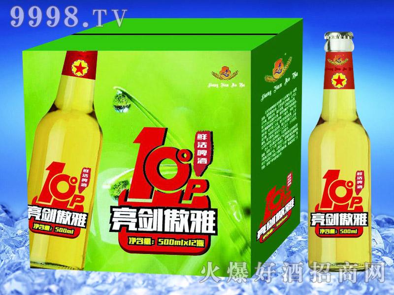 亮剑啤酒傲雅鲜活啤酒500ml×12瓶