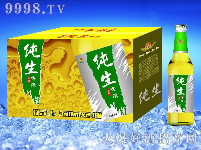 亮剑啤酒纯生啤酒330ml×24瓶
