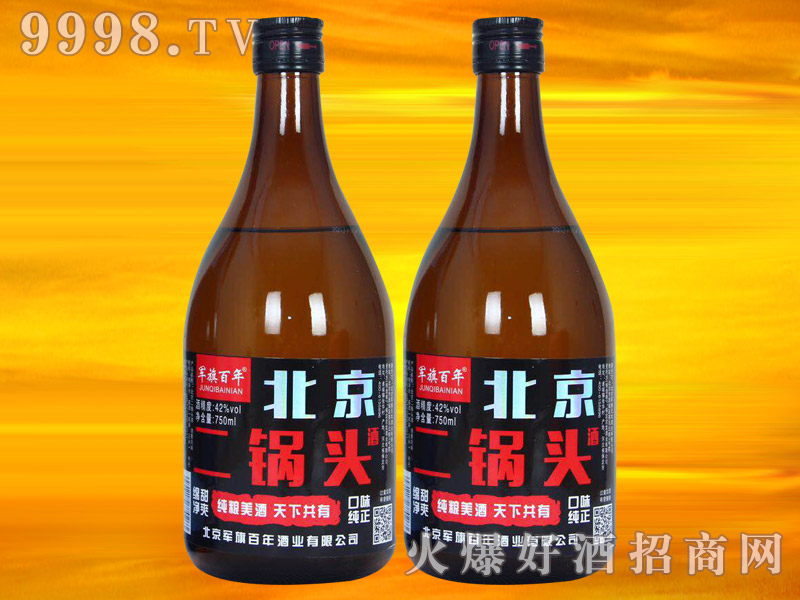 军旗百年北京二锅头酒750ml(棕)