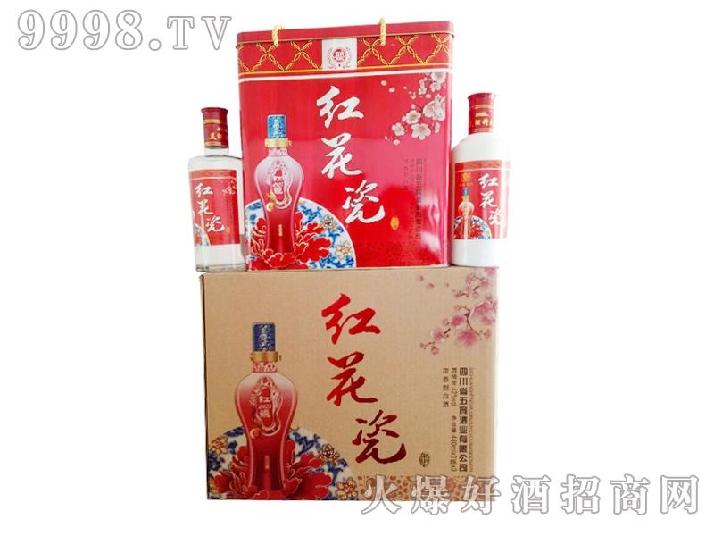 五宾红花瓷酒