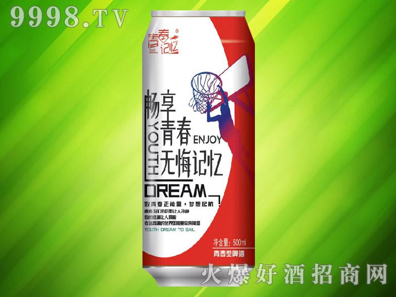 青春记忆青春型啤酒500ml(红罐)