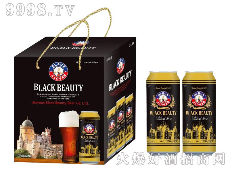 德国黑美人原浆黑啤12°500ml×12罐礼盒装