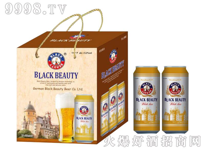 德国黑美人原浆白啤11.6°500ml×12罐礼盒装