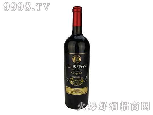 里昂纳多老人头黑珍珠干红葡萄酒