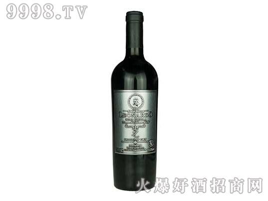 里昂纳多老人头黑珍珠干红葡萄酒(金属标)