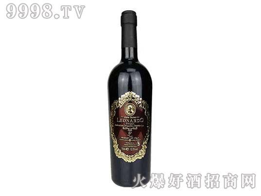 里昂纳多老人头西拉干红葡萄酒(金属标)