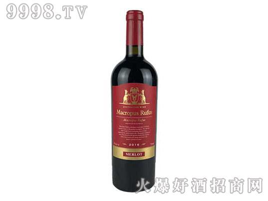 袋鼠美乐干红葡萄酒(金属标)