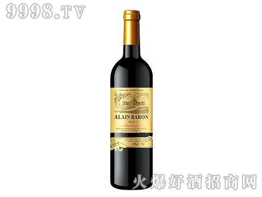 阿兰男爵金樽干红葡萄酒