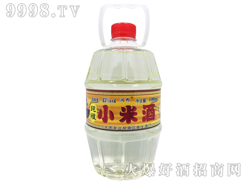 润邦纯粮小米酒45°1000ml-白酒招商信息