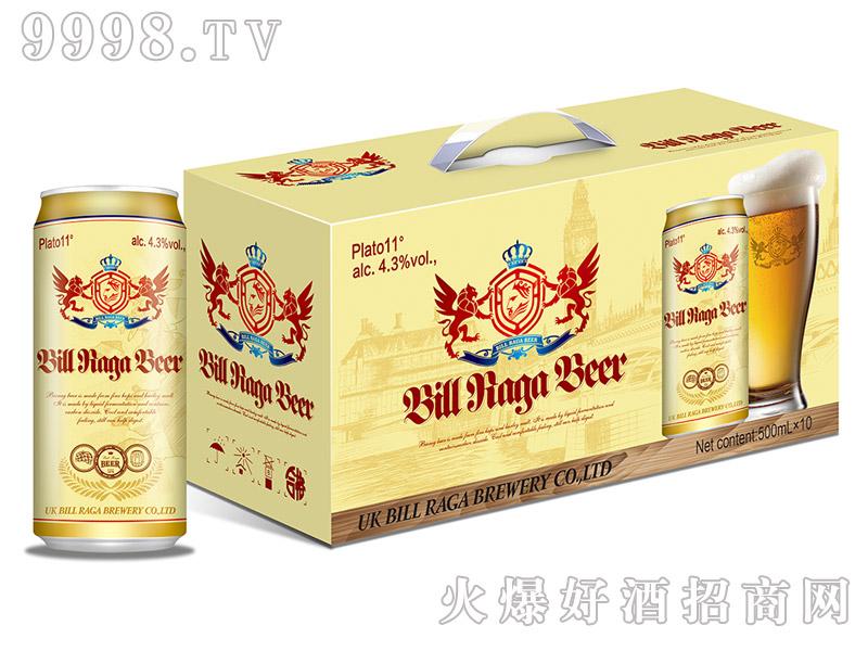 11度比尔拉格白啤酒10罐500ml手提