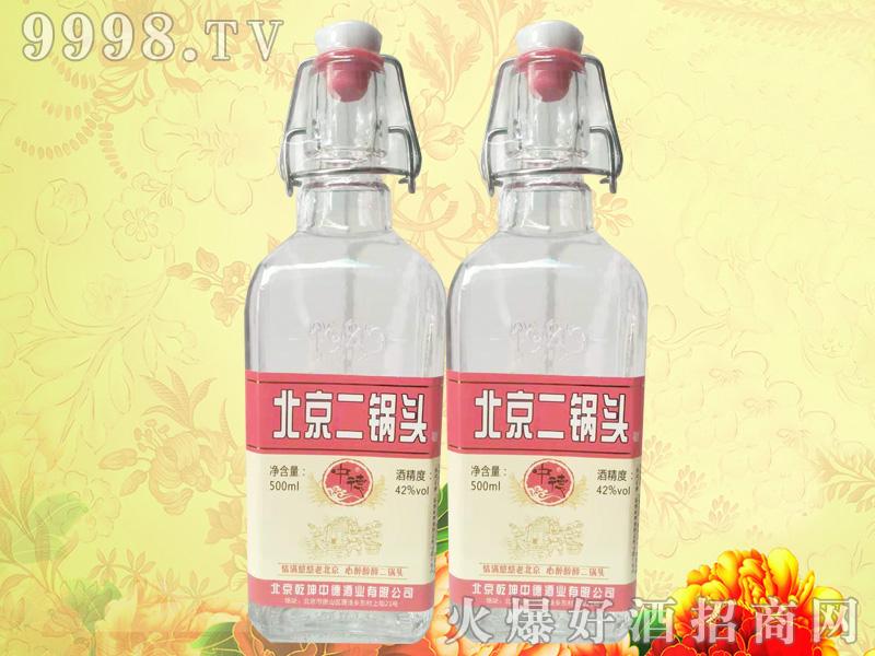 中德北京二锅头方瓶红标