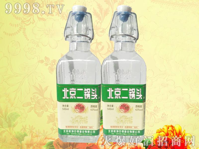 中德北京二锅头方瓶绿标