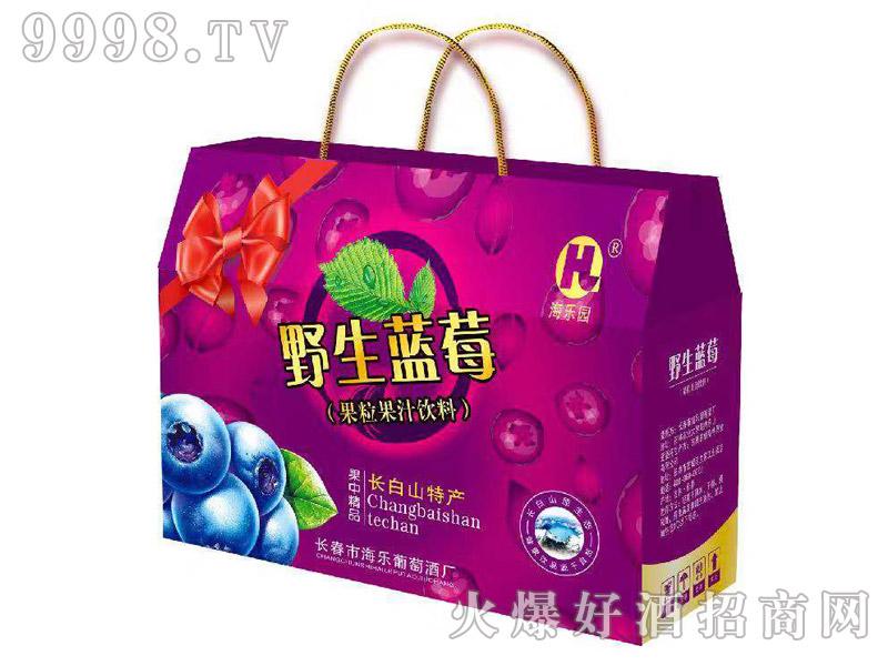海乐园野生蓝莓果汁饮料礼盒300ml×8瓶