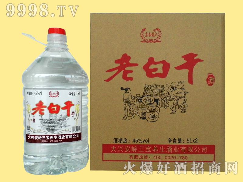 京泰龙江45度5升老白干整套