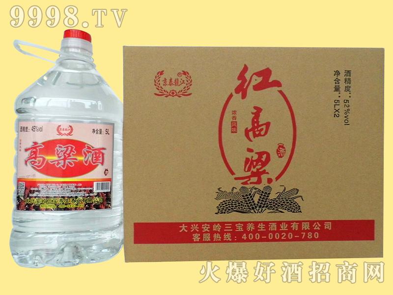 京泰龙江52度5升高粱酒整套