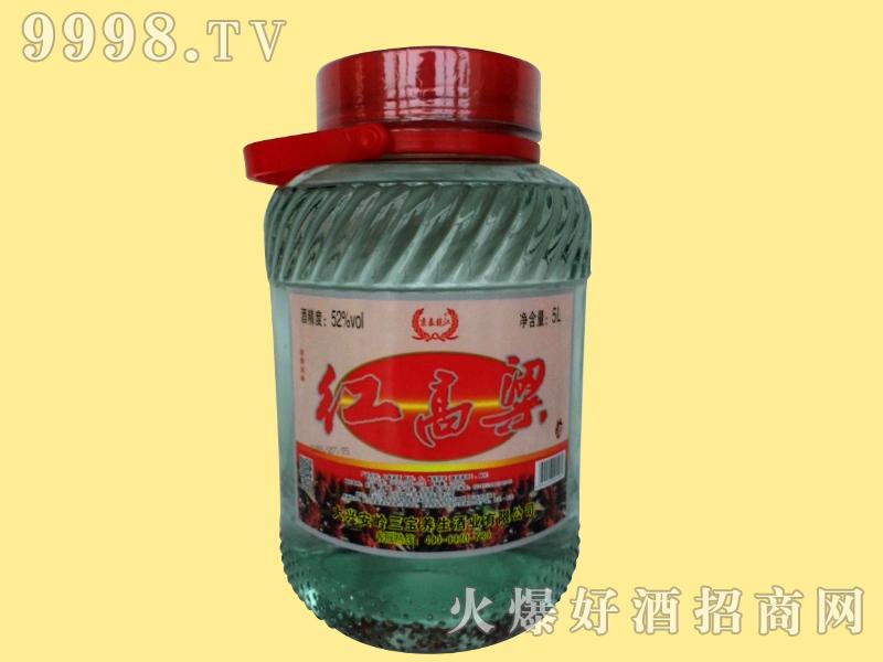 京泰龙江52度5升红高粱玻璃坛