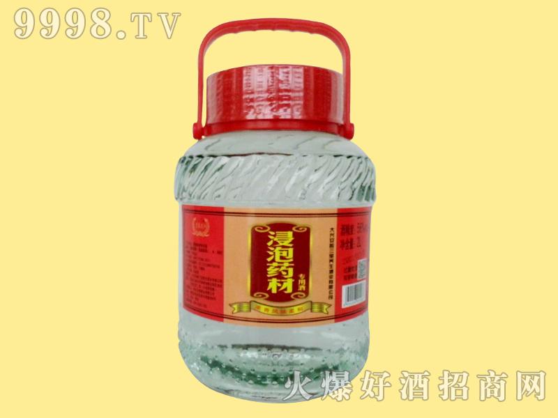 京泰龙江56度2升浸泡药材玻璃坛